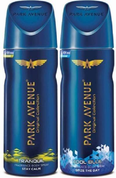 PARK AVENUE Cool Blue and Tranquil Deodorant Body Spray  -  For Men
