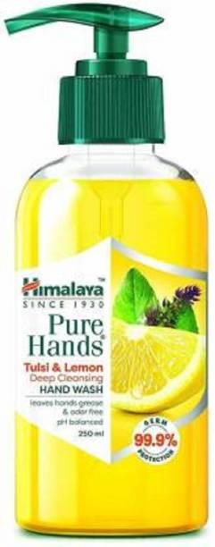 HIMALAYA Pure Hands Tulsi & Lemon Deep Cleansing (Pack of 2) Hand Wash Pump Dispenser