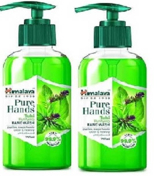 HIMALAYA Pure Hands Tulsi Purifying ( Pack of 2) Hand Wash Pump Dispenser