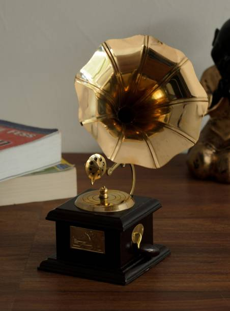 Flipkart SmartBuy Brass Antique Music Decorative Gramophone Decorative Showpiece  -  24 cm