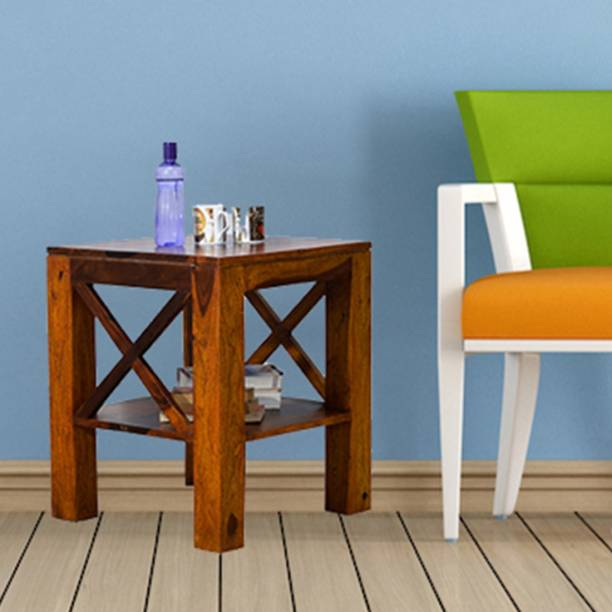 TimberTaste Sheesham Wood Solid Wood Corner Table