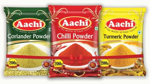 Aachi Chilli, Turmeric, Coriander Powder Spices Combo