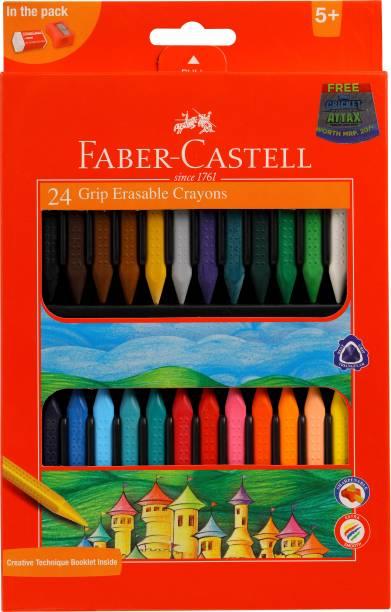 FABER-CASTELL 24 Grip Erasable Crayons
