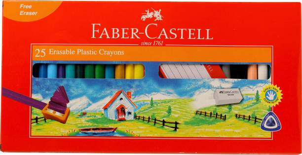 FABER-CASTELL 25 Erasable Plastic Crayons (70mm)