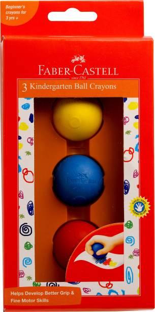FABER-CASTELL 3 Kindergarten Ball Crayons