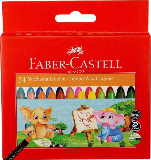 FABER-CASTELL 24 Jumbo Wax Crayons (90mm)