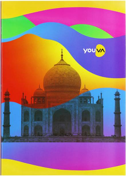 NAVNEET Youva Soft Bound Long Book Rainbow 21x29.7 cm A4 Notebook Single Line 228 Pages