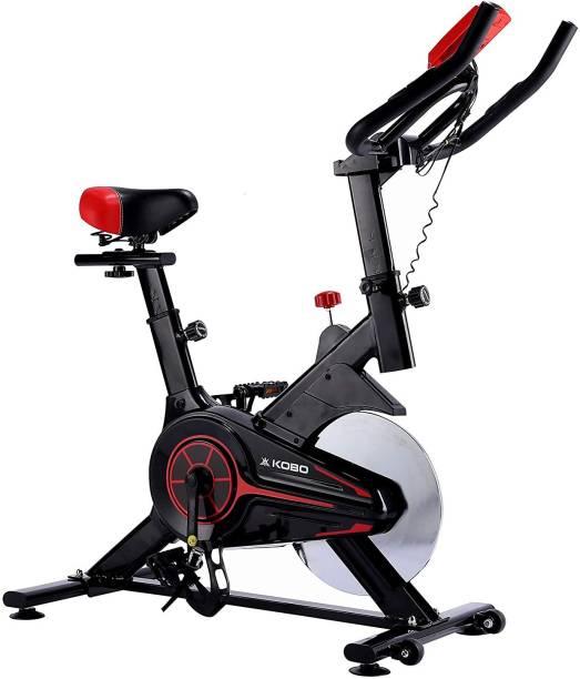 KOBO Spin Bike with 6 Kg Fly Wheel for Home Gym Fitness Spinner Exercise Bike