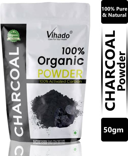 Vihado 100% Organic Activated Carbon(Charcoal) Powder - 50g (Pack of 1)