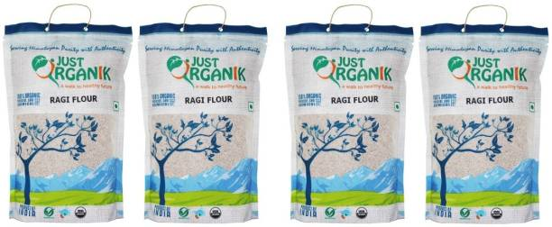 Just Organik RAGI FLOUR,500g Each pack, 100% ORGANIC Combo