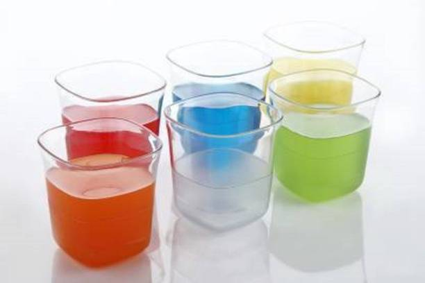 LEAWALL (Pack of 6) PLATINUM_GLASS Glass Set
