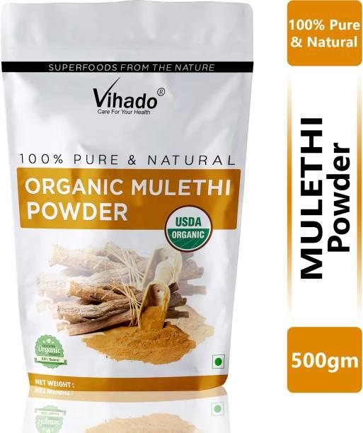 Vihado Natural Licorice Root Powder (mulethi) Hair Shine Hair-Fall Treatment Hair Pack 500g (Pack of 1)