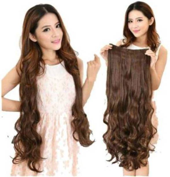 VIVIAN Beautiful Brown Wavy 5 Clip In Hair Extension