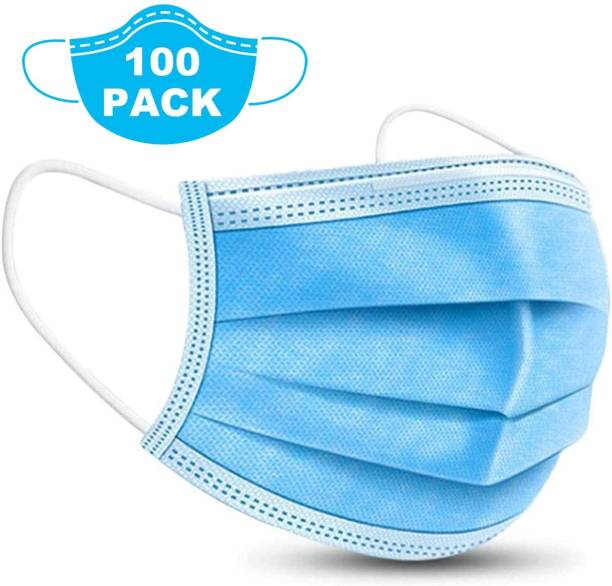 Nea 3 Layered / 3 Ply Face mask and Pharmaceutical mask with ultrasonic nose pin and meltblown Filter for Men . women and kids Mask-100)-1868 Surgical Mask With Melt Blown Fabric Layer