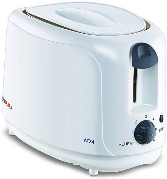 BAJAJ 2Slice 750Watts High Quality (ATX4) auto 750 W Pop Up Toaster
