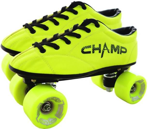 VICKY Champ Yellow Shoe Skates, UK-12C Quad Roller Skates - Size 12C UK