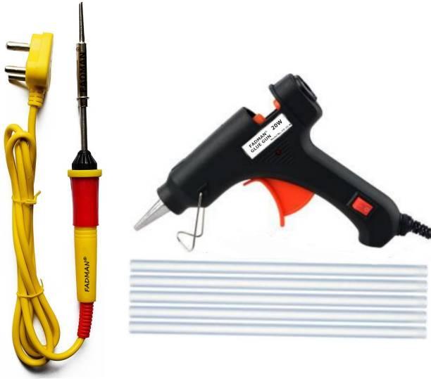 FADMAN Basic Soldering Iron Kit Complete Pack Type-3 | 20W Glue Gun & 7mm Glue Sticks (5PCS) | Soldering Iron 25 W Simple