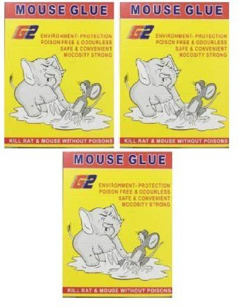 poksi Pack of 3, Mouse Glue for Kill Rat & Mouse without Poison, Environment Protection Poison Free & Odourless Safe & Convenient(3 x 1 Patches)