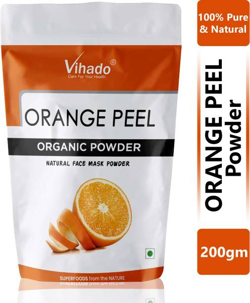 Vihado 100% Skin Caring Orange Powder 200g (Pack of 1)