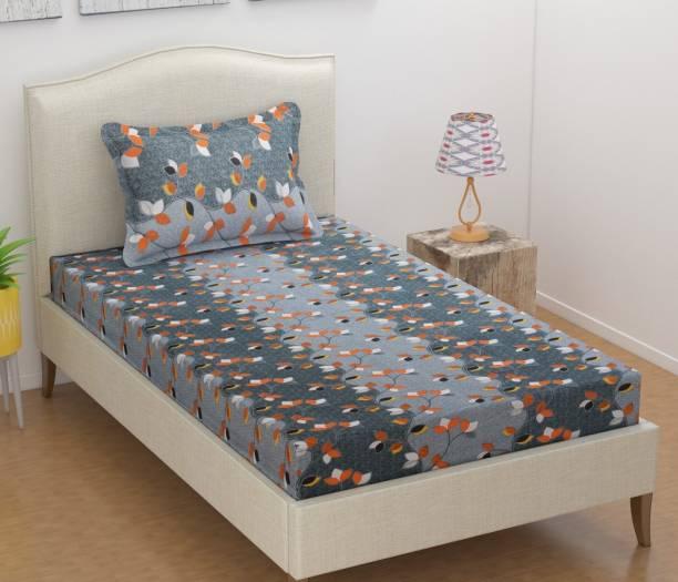JEBY 120 TC Cotton Single Abstract Bedsheet