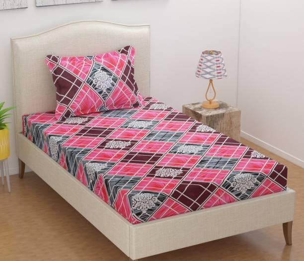 JEBY 120 TC Cotton Single Floral Bedsheet