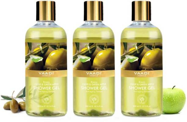 VAADI HERBALS Shower Care Essential Gel With Olive And Green Apple