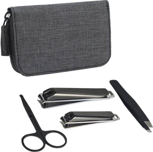 MensXP Mud Men's Tool Kit (With Fingernail & Toenail Clipper, Multipurpose Scissors and Tweezers) With Free Carry Pouch