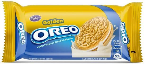 OREO Golden Vanilla Flavored Sandwich Biscuits Cream Sandwich