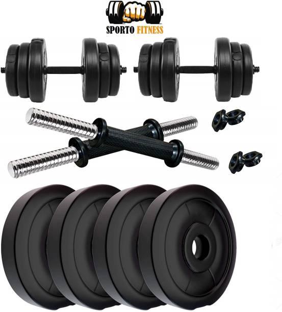 Sporto Fitness 10 kg Adjustable Dumbbell