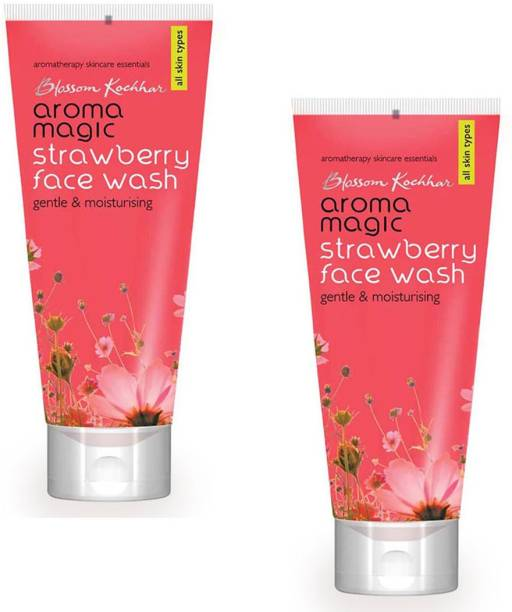 Aroma Magic Strawberry Face wash (pack of 2) Gentle & Moisturising Face Wash