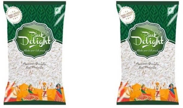 Pink Delight Premium Quntity Food rice (pack of 2) (Total 2Kg) Basmati Rice (Small Grain)