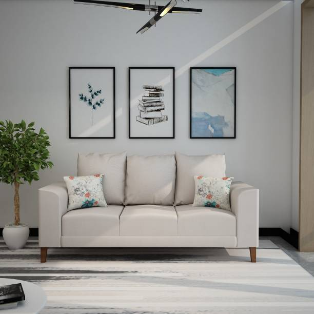 Flipkart Perfect Homes Sara Fabric 3 Seater  Sofa