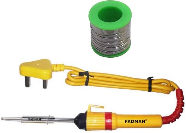 FADMAN 2 IN 1 SOLDERING IRON KIT (SET OF 2)   SOLDER WIRE   SOLDERING IRON 25 W Simple