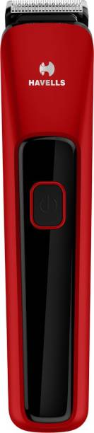 HAVELLS BT5111C Cordless Beard Trimmer with Comb (Black & Red)  Runtime: 45 min Trimmer for Men