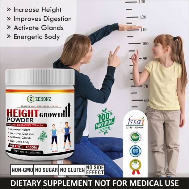 zenonz Height Growth Herbal Powder For Helps To Increase Your Height