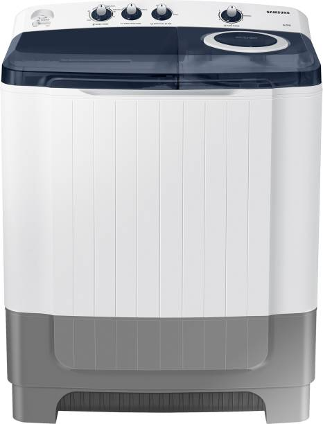 SAMSUNG 8 kg Semi Automatic Top Load White, Grey