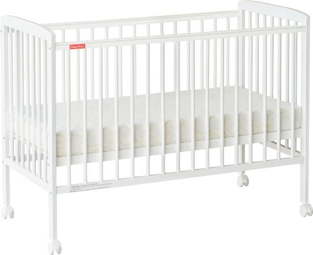 FISHER-PRICE Joy Crib with Mattress - White Cot