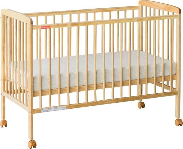 FISHER-PRICE Joy Crib with Mattress - Natural Wood Cot