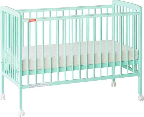 FISHER-PRICE Joy Crib with Mattress - Sea Green Cot