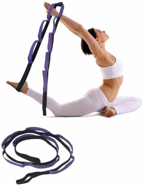 FITSY YOGA-STRCH-STRP-PRPL-AR2510 Cotton Yoga Strap