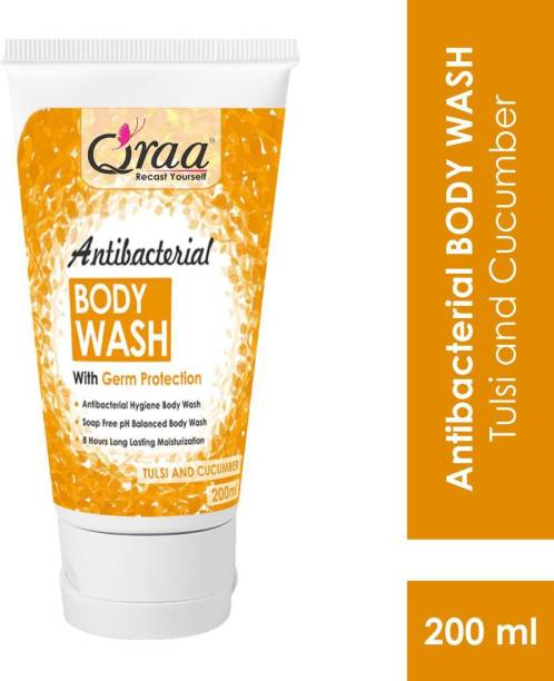 Qraa Antibacterial Body Wash With Goodness Of Tulsi & Cucumber