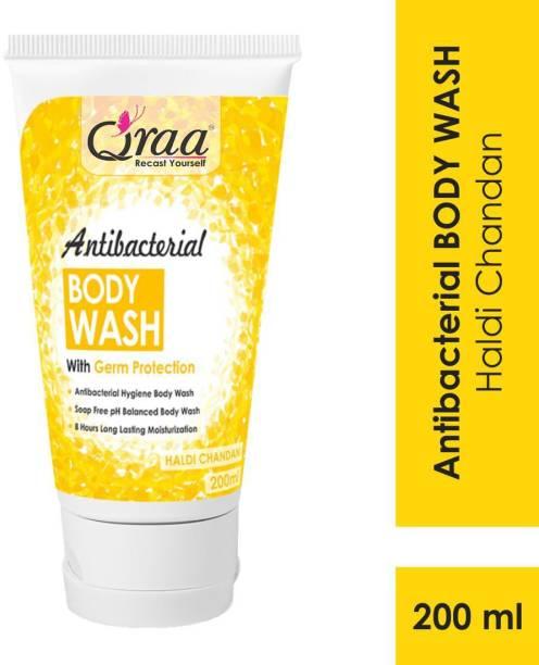 Qraa Antibacterial Body Wash With Goodness Of Haldi Chandan