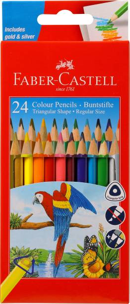 FABER-CASTELL 24 Triangular Shaped Color Pencils