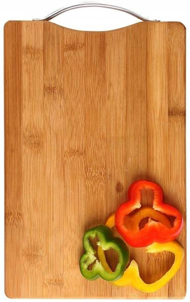 Flipkart SmartBuy (33*23) Thick Wooden Bamboo Kitchen Chopping Cutting Slicing Board with Holder for Fruits Vegetables Meat Wooden Cutting Board