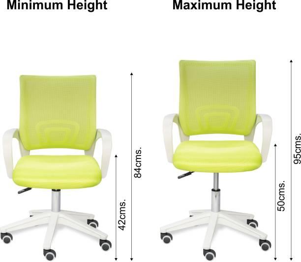 Alex Daisy Mesh Synthetic Study Arm Chair