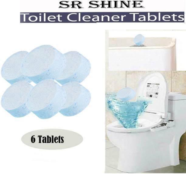S R SHINE Tablet Toilet Bowl Cleaner, [ 6 Tablet in Pack] Lemon Powder Toilet Cleaner