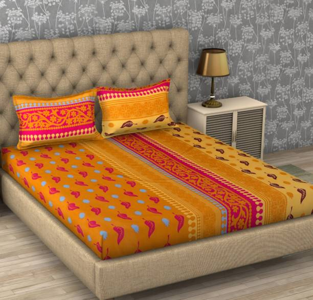 IWS 104 TC Cotton Double Printed Bedsheet