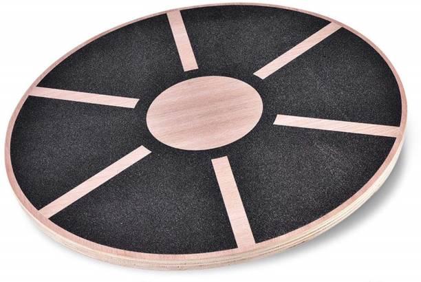 FITSY Wooden Non-Slip Wobble Balance Board - Balance Stability Trainer Wobble Board Fitness Balance Board