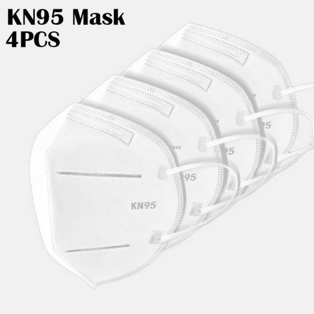Nea N95 / KN95 Anti Pollution and Anti Viral 5 Layered ( including 2 Meltblown filters ) Protective Face Mask , WHITE SOLID COLOR ( FOR MEN , WOMEN , KIDS ) WSX -Heath+ Mask Respirator Water Resistant, Washable, Reusable