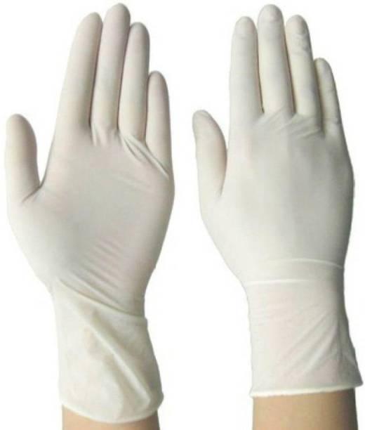 SOBERBIO Disposable Examination Latex Medical Hand Gloves Large Size Latex Examination Gloves